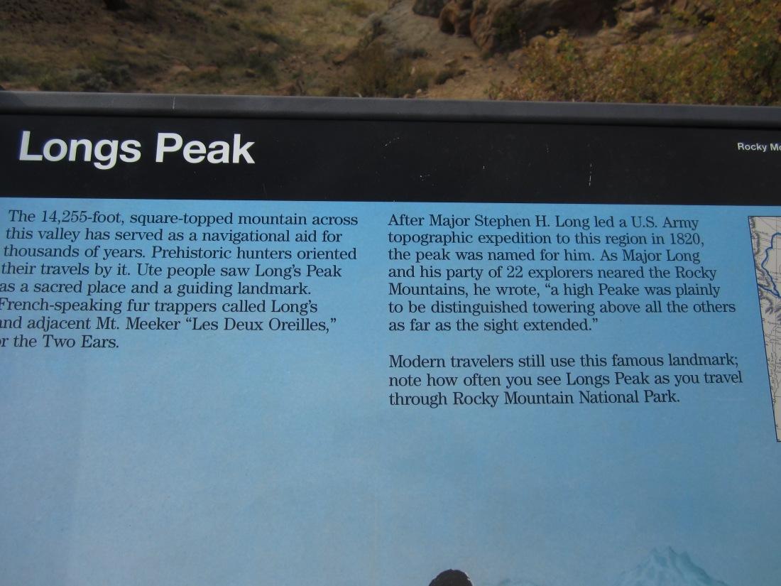 Long's Peak info