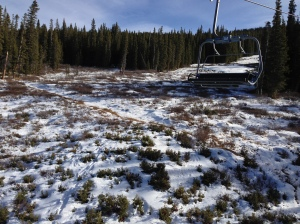 Copper Mt. on the Timberline Chairlift 27 Nov 2012