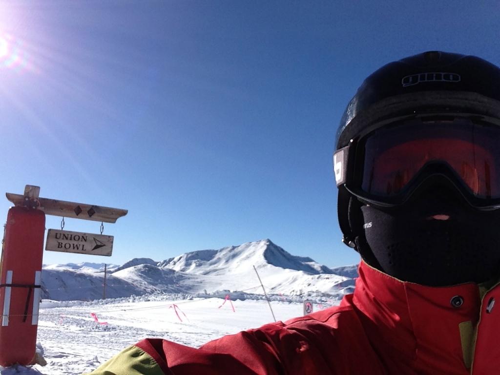 Copper Mt. 9 Jan. Top of Storm King lift.