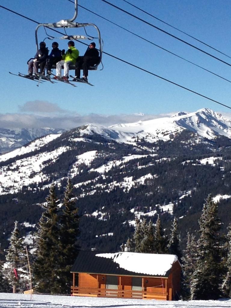 Copper Mt. 16 Jan. Top of Super Bee lift.  Looking north.