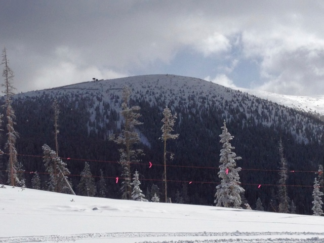 The Eagle Wind chairlift viewed from Pioneer Express.