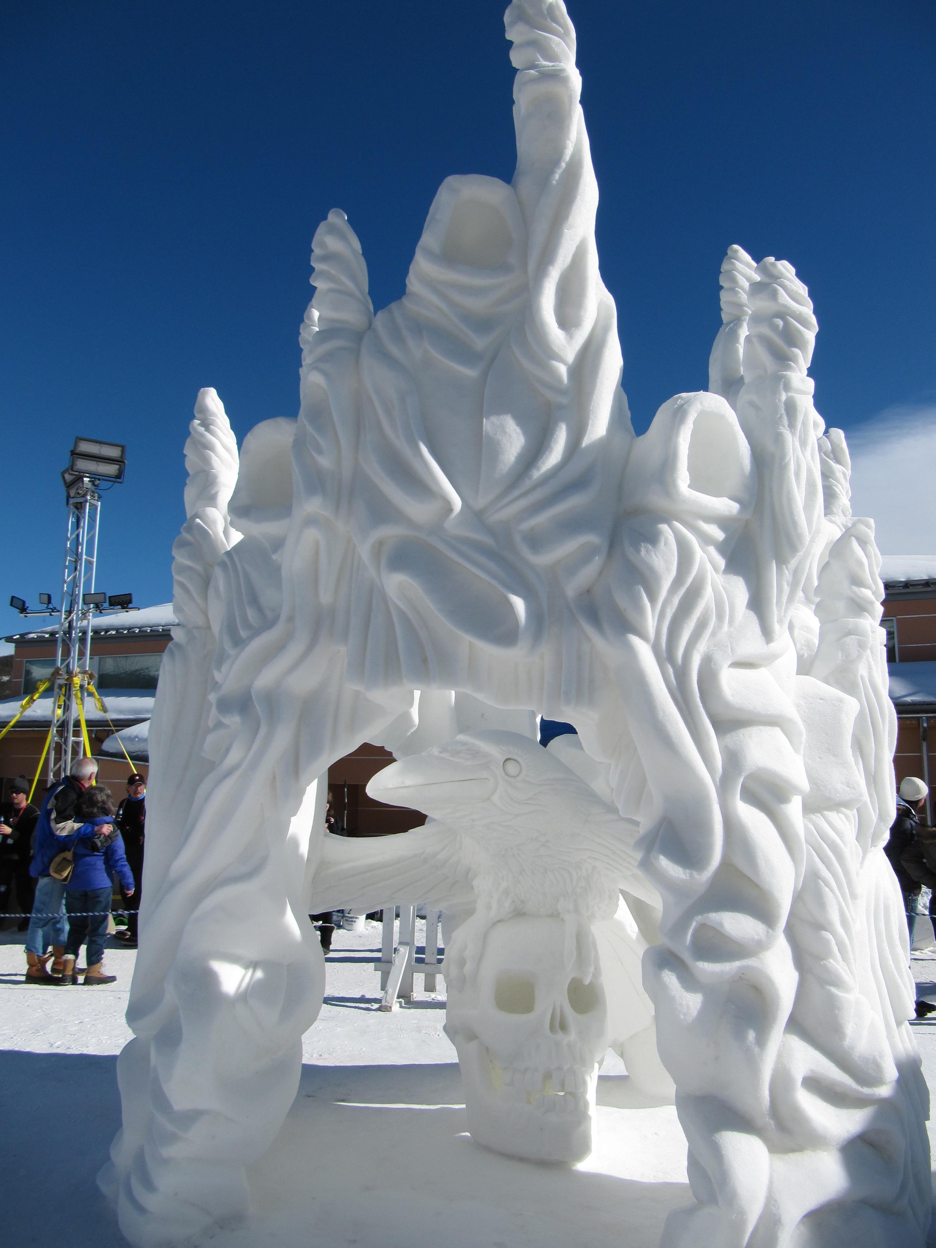 snow sculptures  breckenridge colorado  january 2013  2012