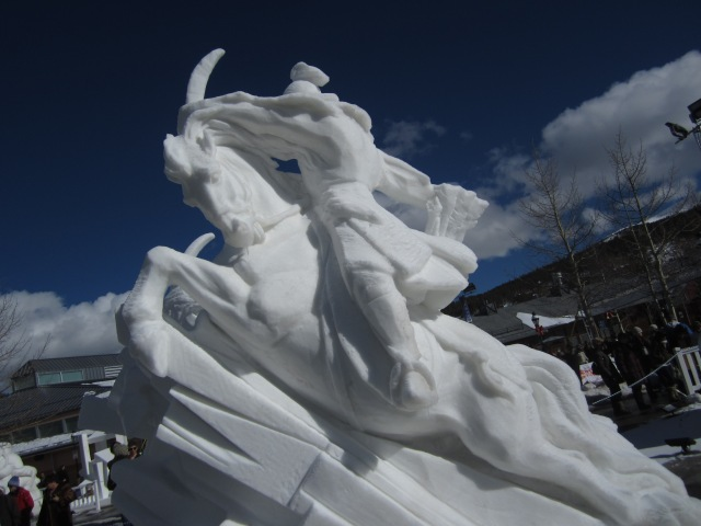 Snow Sculpture.  Breckenridge, CO.  27 Jan. 2013.