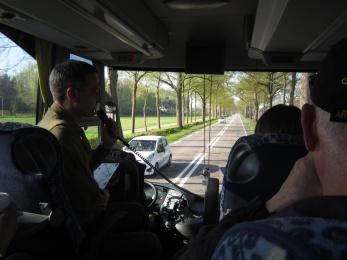 Dutch Friend Piet ('Payte') explains the battlefields as we drive.