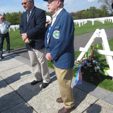 WWII vet Bob says a few words.