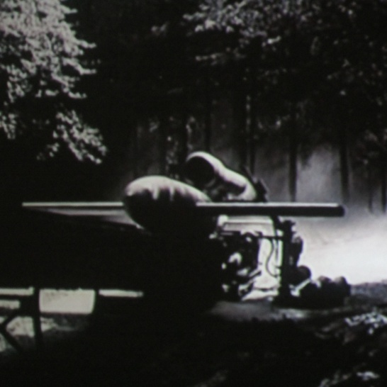 A V1 rocket in the documentary, like the one Marcel Schmetz built a model of for the Remembrance Museum.