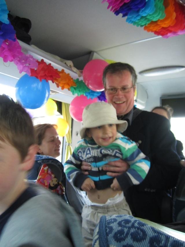 Mathias and little son Florian.