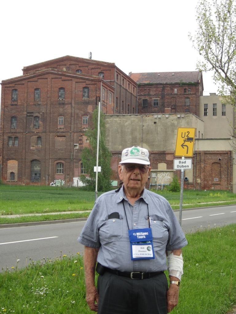 Timberwolf WWII vet Bill at Krostitz.
