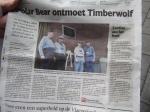 As we prepare to leave for the day we find the Timberwolves are in a Dutch newspaper.