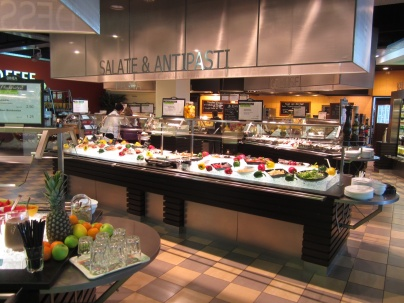 7th floor food buffet, lunch for many of us.