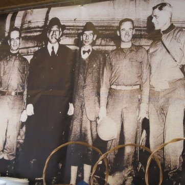 An enlarged photo reproduction of Gen. Terry Allen (l.), Count Von Luckner (2nd from l.) and others.