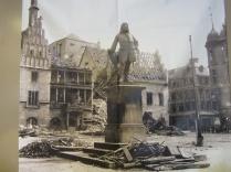 The Handel statue in 1945.