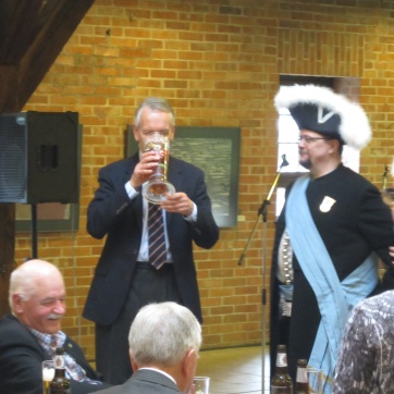 There is a bit of ceremonial beer drinking.