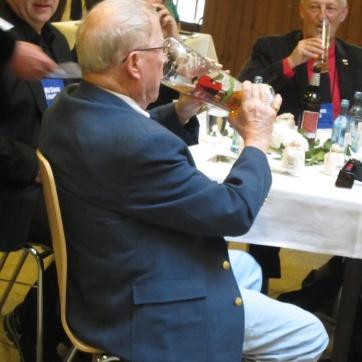 Even Bob has a sip. The end is near. (We do eat eventually. It's not as bacchanallian as it looks.)