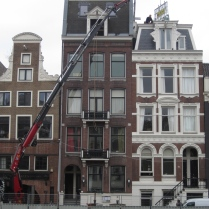 Amsterdam walk-around. It's a bird, it's a plane, it's a...crane!