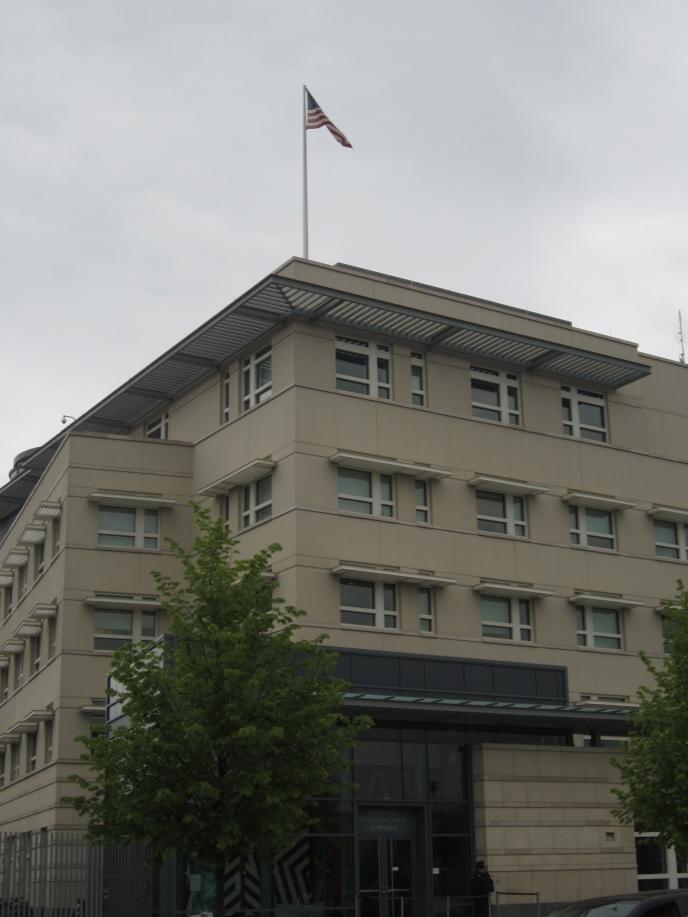 The U.S. Embassy.