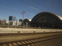 Entering Dresden station.