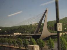 That is an unusual bridge.