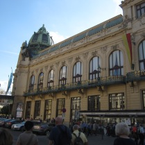 The Obneci Dum, less than a block from our hotel, is a fantastic Art Nouveau. With 3 restaurants and an Alfons Mucha exhibit we visit here many times.