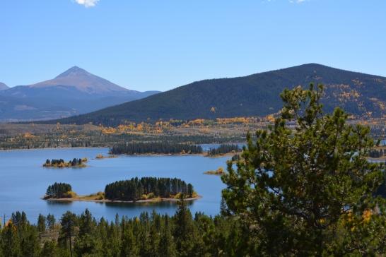 Lake Dillon from I-70 WB.