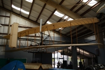 A Wright Brothers replica is the first plane, appropriately.