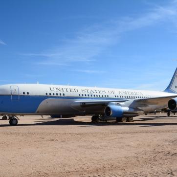 Various presidential aircraft.