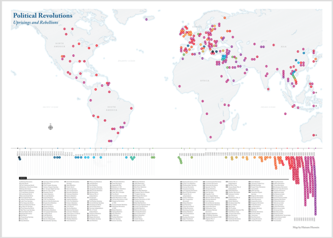 Political Revolutions, Map by Haisam Hussein