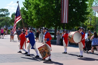 U.S. Fife and Drum Corps playing on a blazing hot day and it's not even summer yet!