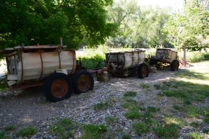 Old wooden carts.