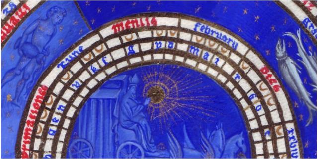 IMAGE: February (detail) from Les Très Riches Heures du Duc de Berry, c. 1412. via http://Lapham'sQuarterl.org