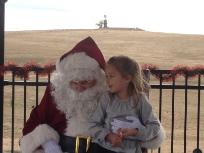 Santa at the Highlands Ranch Mansion.