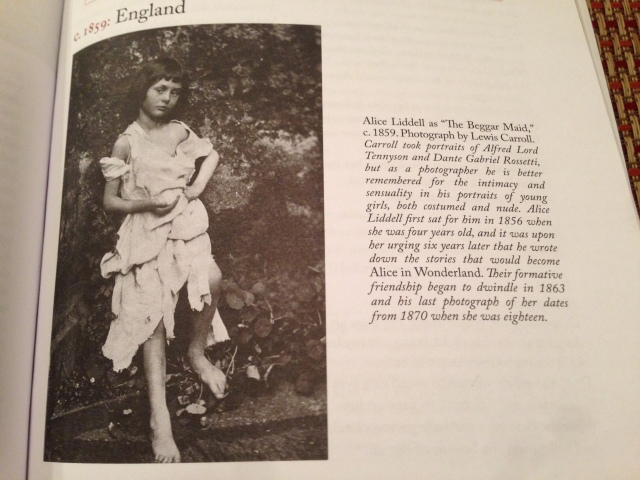 Lewis Carroll?  Alice in Wonderland??  Hmm.  I'm not sure about child photography.