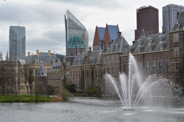 Lake by the Binnenhof.