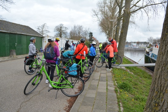 De-barging for our practice ride and heading out.