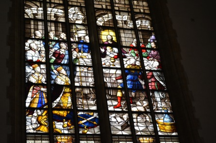 Beautiful painted stained glass.