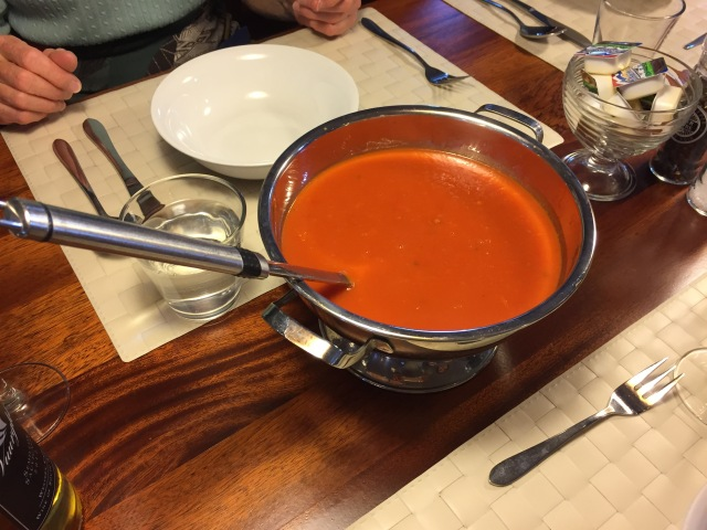 Red pepper soup.