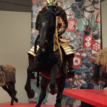 We're told the primary samurai period was from the 12th through the 16th century, though most of the armor on display is from the 17th century.