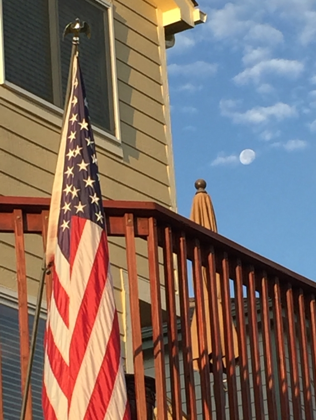 Happy 4th from the 'burbs. This photo is from 23 June as today is a new moon.