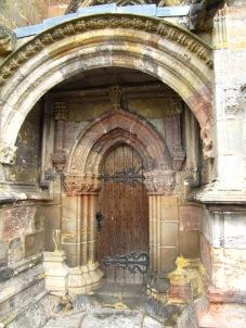 A chapel side door.