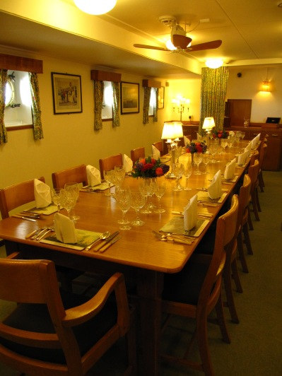 One of the upper class officers' dining area.