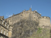 The castle is all hill, steep hill from most sides.