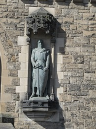 William Wallace opposite Robert the Bruce.