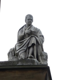 Sir Walter Scott statue at the monument.