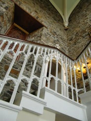 Staircase in the restored stables/old house.