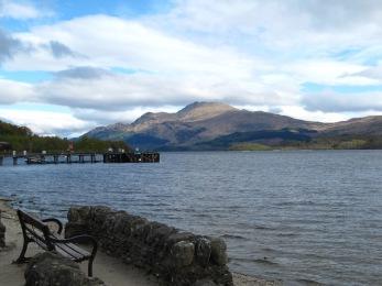 The beautiful Loch Lomond at Luss.